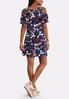 Ruffled Cold Shoulder Swing Dress alternate view