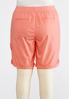 Plus Size Tonal Embroidered Shorts alternate view