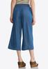 Cropped Embroidered Chambray Pants alternate view