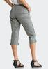 Cropped Tonal Embroidered Cargo Pants alternate view