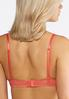 Plus Size Nude And Coral Mesh Bra Set alternate view
