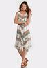 Floral Mitered Print Dress alternate view