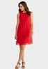 Plus Size Solid Crepe Swing Dress alternate view
