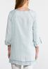Embroidered Neck Chambray Tunic alternate view