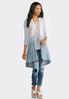 Plus Size Ombre Lace Back Vest alternate view