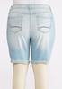 Plus Size Distressed Denim Shorts alternate view