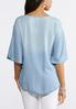 Chambray Embroidered Poncho Top alternate view