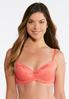 Plus Size Coral And Gray Lace Bra Set alternate view