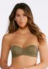 Plus Size Green And Ivory Convertible Bra Set alternate view