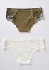 Plus Size Green And Ivory Panty Set alternate view