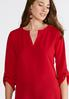 Plus Size High- Low Popover Top alternate view
