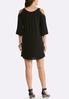 Plus Size Crepe Cold Shoulder Dress alternate view