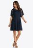 Plus Size Paisley Lace Fit And Flare Dress alternate view