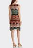 Plus Size Radiant Tribal V- Neck Dress alternate view