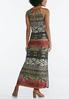 Plus Petite Tribal Halter Maxi Dress alternate view