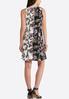 Plus Size Puff Print Floral Shift Dress alternate view