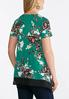 Plus Size Layered Teal Floral Top alternate view