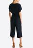 Plus Petite Cropped Tie Waist Jumpsuit alternate view