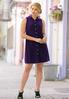 Plus Size Solid Purple Shirt Dress alternate view