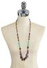 Semi Precious Multi Color Beaded Necklace alternate view