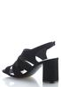 Faux Suede Block Heeled Sandals alternate view