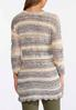 Striped Scalloped Cardigan Sweater alternate view