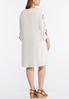 Plus Size Embroidered Gauze Swing Dress alternate view