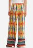 Petite Medallion Stripe Palazzo Pants alternate view
