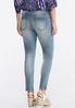 Medium Wash Skinny Ankle Jeans alternate view