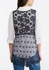 Plus Size Crochet Mesh Vest alternate view
