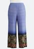 Plus Size Whimsy Floral Border Palazzo Pants alternate view