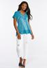 Plus Size Relaxed Lace Trim Tee alternate view