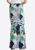 Plus Size Floral Paisley Mermaid Skirt alternate view