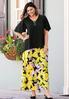 Plus Size Brilliant Bloom Maxi Skirt alternate view