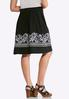 Plus Size Puff Floral Print Midi Skirt alternate view