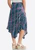 Plus Size Scattered Stripe Asymmetrical Skirt alternate view