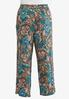 Plus Size Teal Paisley Palazzo Pants alternate view