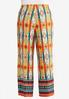 Plus Size Medallion Stripe Palazzo Pants alternate view
