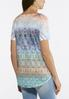 Plus Size Prismatic Embellished Top alternate view