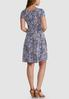Seamed Coral Navy Puff Paisley Dress alternate view