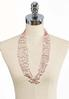 Multi Row Pearl Layered Necklace alternate view