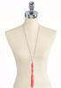 Two- Toned Seed Bead Tassel Necklace alternate view