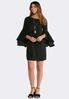 Plus Size Split Bell Sleeve Dress alternate view