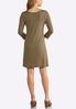 Plus Size Solid Knit Swing Dress alternate view