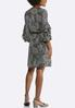 Plus Size Ruffled Paisley Blouson Dress alternate view