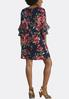 Plus Size Blossoming Navy Swing Dress alternate view