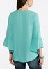 Plus Size Lace Bell Sleeve Poet Top alternate view