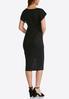 Plus Size Textured Burnout Sheath Dress alternate view