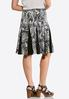 Pleated Floral Puff Print Skirt alternate view