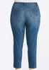 Plus Size Floral Embroidered Ankle Jeans alternate view